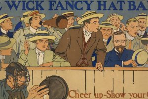 Early Poster Cheering Crowds